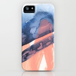 Pink and Indigo Blue Abstract iPhone Case