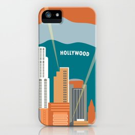 Los Angeles, California - Skyline Illustration by Loose Petals iPhone Case