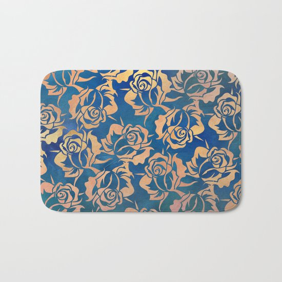Rose pattern Bath Mat