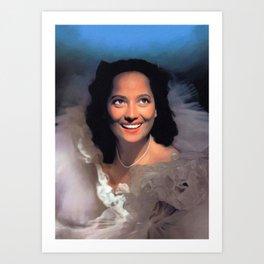 Merle Oberon, Actress Art Print