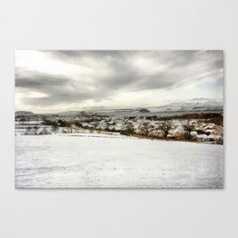 Serene Snow Scene Canvas Print