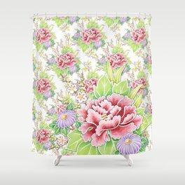 Kimono Summer Bouquet Shower Curtain