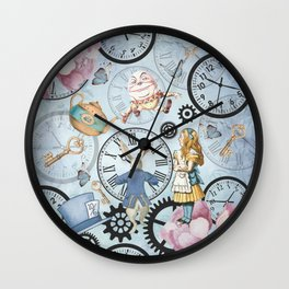 Wonderland Time Wall Clock