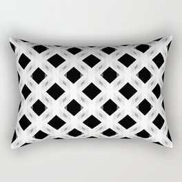 Retro-Delight - Diamond Division - White Rectangular Pillow