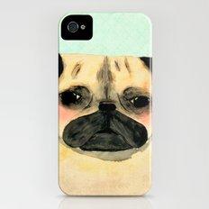 Pug portrait iPhone (4, 4s) Slim Case