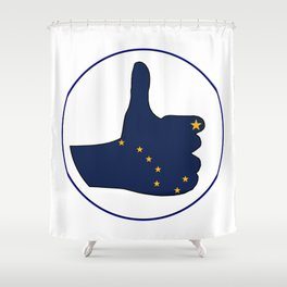 Thumbs Up Alaska Shower Curtain