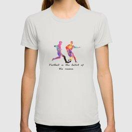 Man Dribbling Ball  Quote Art Design Inspirationa T-shirt