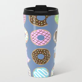 Donuts & Coffee Metal Travel Mug