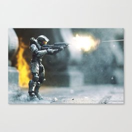 Fire Fight Canvas Print