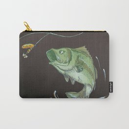 Bass Jumping At Night Carry-All Pouch