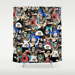 All the Franks Shower Curtain
