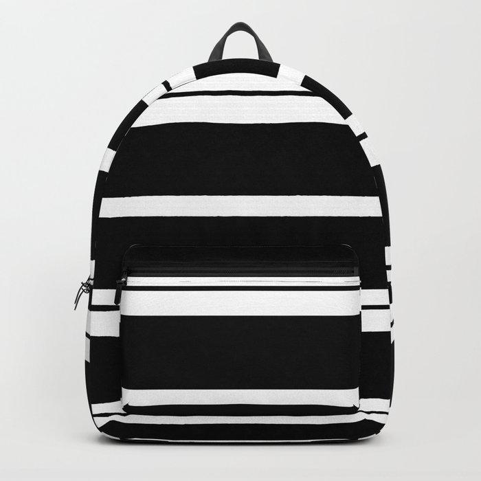 Black And White Stripes Rucksack