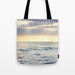 California Sunset over the Pacific Ocean Tote Bag