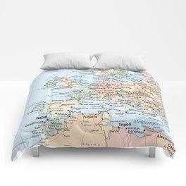 World Map Europe Comforters