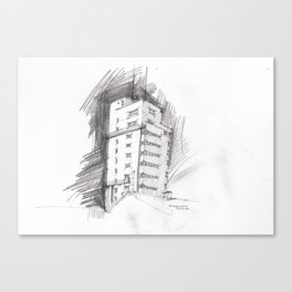 Tagblattturm Stuttgart - pencil Canvas Print