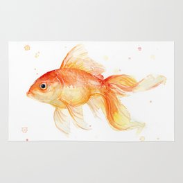 Goldfish Watercolor Fish Rug