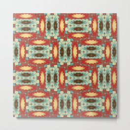 Complex colorful pattern Metal Print