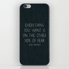 I. The other side of fear. iPhone & iPod Skin