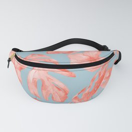 Island Life Coral on Light Blue Fanny Pack