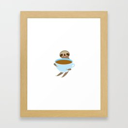 sloth & coffee 3 Framed Art Print