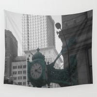 clock Wall Tapestries featuring Clock by eckoepp