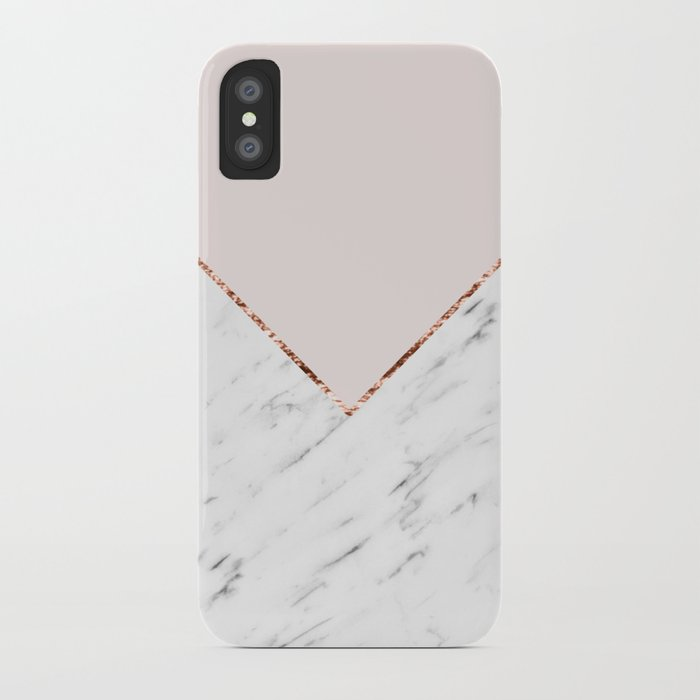 Peony Blush Geometric Marble Iphone Case By Marbleco