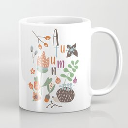 Hedgehog Autumn Garden Coffee Mug