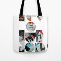 revolution Tote Bags featuring revolution by Ali GULEC