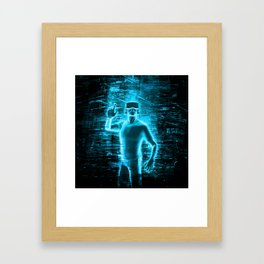 Virtual Reality User Framed Art Print