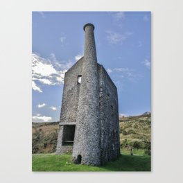 WHEAL BETSY MINE ENGINE HOUSE DARTMOOR Canvas Print