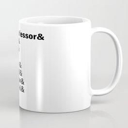 Money Heist /  La casa de papel squad. (version 2, in white) Coffee Mug