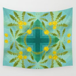 Dandelions in the sky Wall Tapestry