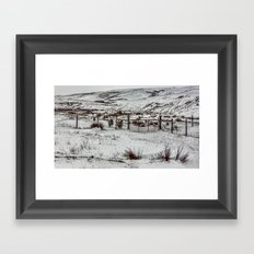 Winter in the Dales Framed Art Print