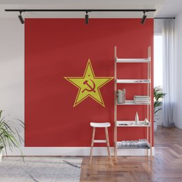 Red Star Hammer & Sickle Wall Mural