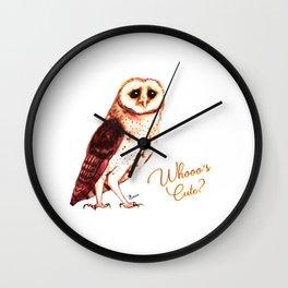 Whooo´s cute? Wall Clock