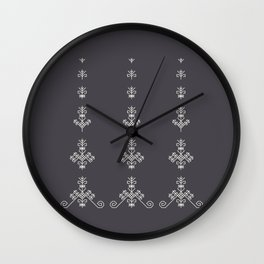 Latvian sign Sun tree Wall Clock