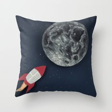 Rocket to the Moon Throw Pillow