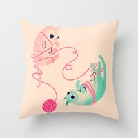 tangled Throw Pillows featuring Tangled by Nan Lawson