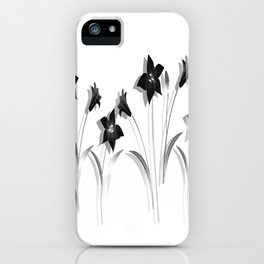 Schwarze Lilien iPhone Case