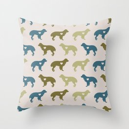 Valentine's dog surface pattern Throw Pillow