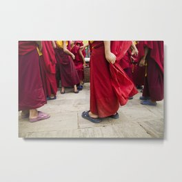 Young monks Metal Print