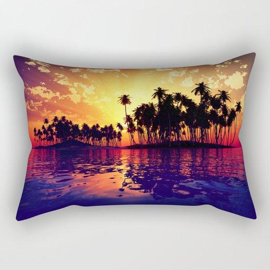 Coconut Island Rectangular Pillow