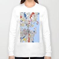 sydney Long Sleeve T-shirts featuring Sydney mondrian by Mondrian Maps