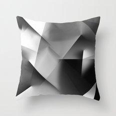 Monochromatic Cubism Throw Pillow
