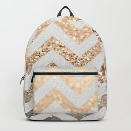 GOLD & SILVER CHEVRON Backpack