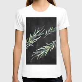 Eucalyptus leaves on chalkboard T-shirt