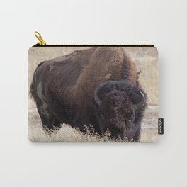Buffalo in a Field Carry-All Pouch