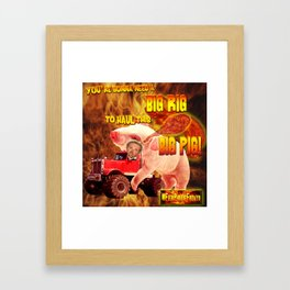 Guy Fieri in his Big Rig Framed Art Print