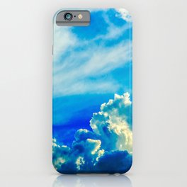 Dramatic Stormy Clouds In The Windy Sky iPhone Case