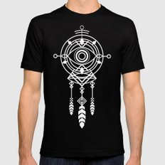 Cosmic Dreamcatcher LARGE Black Mens Fitted Tee